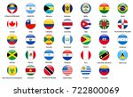 set of popular country flags.... | Shutterstock . vector #722800069