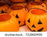 halloween festival pumpkin... | Shutterstock . vector #722800900