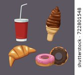 desserts and sweets | Shutterstock .eps vector #722801548