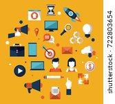 digital marketing and... | Shutterstock .eps vector #722803654