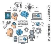 artificial intelligence...   Shutterstock .eps vector #722805604