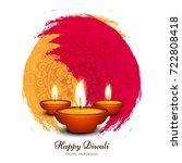 modern elegant diwali design   | Shutterstock .eps vector #722808418