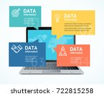 computer success communication... | Shutterstock .eps vector #722815258