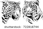 set of vector drawings on the... | Shutterstock .eps vector #722818744