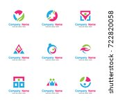 health care logo set. contains... | Shutterstock .eps vector #722820058