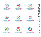 health care logo set. contains... | Shutterstock .eps vector #722820064