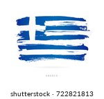 flag of greece. vector... | Shutterstock .eps vector #722821813