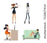 vector illustration of a modern ... | Shutterstock .eps vector #722827414