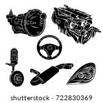 vector illustration of a parts... | Shutterstock .eps vector #722830369