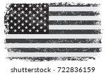 grunge usa flag. vintage... | Shutterstock .eps vector #722836159