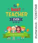best teacher ever ... | Shutterstock .eps vector #722837068
