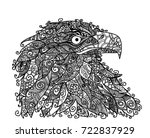 vector illustration of eagle... | Shutterstock .eps vector #722837929
