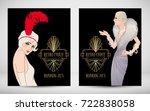 art deco vintage invitation... | Shutterstock .eps vector #722838058