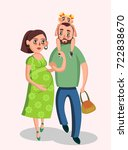 vector illustration of parents... | Shutterstock .eps vector #722838670