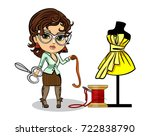 vector illustration of a tailor ... | Shutterstock .eps vector #722838790