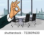 vector illustration of gesture... | Shutterstock .eps vector #722839633