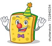 clown sponge cartoon character... | Shutterstock .eps vector #722840254