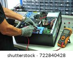 technicians are repairing... | Shutterstock . vector #722840428