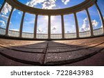 rotunda. cylindrical... | Shutterstock . vector #722843983