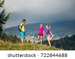 athletic trainer in nature will ... | Shutterstock . vector #722844688