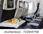 in flight food | Shutterstock . vector #722844748