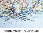 map of barselona  road | Shutterstock . vector #722845030