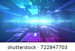 op art 3d illustration of a...   Shutterstock . vector #722847703