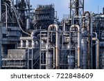 close up industrial view at oil ... | Shutterstock . vector #722848609