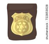 a badge  a police badge.... | Shutterstock .eps vector #722853028