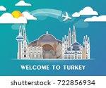 turkey landmark global travel...   Shutterstock .eps vector #722856934