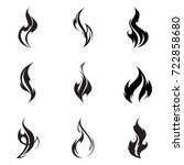fire flame set. | Shutterstock .eps vector #722858680