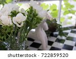 bouquet of white siam tulip... | Shutterstock . vector #722859520