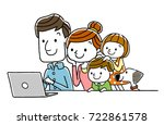 family  personal computer ... | Shutterstock .eps vector #722861578