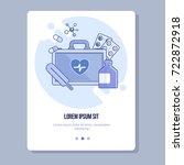 medical flat template. flat... | Shutterstock .eps vector #722872918