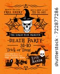 halloween holiday horror party... | Shutterstock .eps vector #722877286