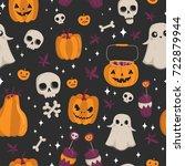 vector seamless pattern for... | Shutterstock .eps vector #722879944