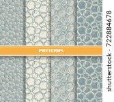 vector set of seamless pattern... | Shutterstock .eps vector #722884678