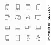 set of smart devices and... | Shutterstock .eps vector #722885734