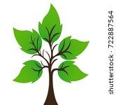 tree logo design template.vector   Shutterstock .eps vector #722887564