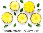 pattern of round pinneapple... | Shutterstock . vector #722895349