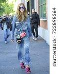 Small photo of Milan - Chiara Ferragni during the Milan fashion week - fashion blogger and designer