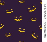 seamless pattern of grinning... | Shutterstock .eps vector #722907154