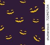 seamless pattern of grinning... | Shutterstock .eps vector #722907154