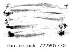 brush stroke and texture. smear ... | Shutterstock . vector #722909770