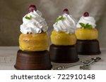 french dessert sovereign or rum ... | Shutterstock . vector #722910148