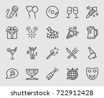 party time line icon | Shutterstock .eps vector #722912428