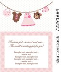 baby girl invitation | Shutterstock .eps vector #72291664