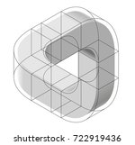 abstract curved vector shape... | Shutterstock .eps vector #722919436