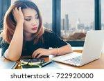 asian stylish woman designer... | Shutterstock . vector #722920000