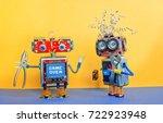 industry 4.0 service repair... | Shutterstock . vector #722923948